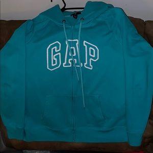 Turquoise GAP zip up hoodie